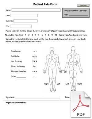 Patient Pain Form